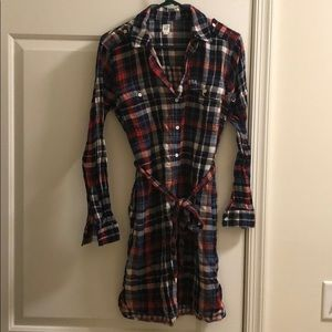 Gap plaid all American plaid dress